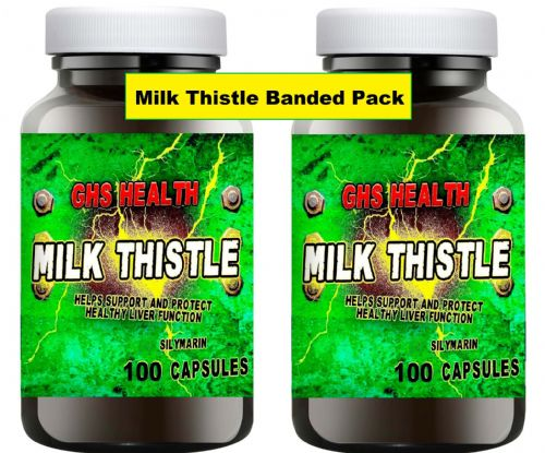 Milk Thistle Capsules 100 x 2 = 200 capsules (1 a day) Banded pack offer
